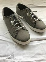 Sperry Top-Sider Silver Glitter Boat Shoes Womans Size 9.5 - NWOB