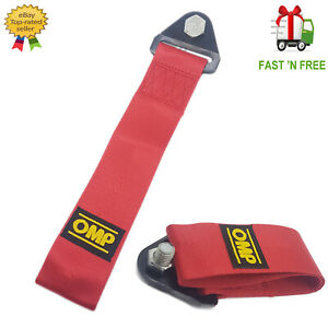 CAR TOWING STRAP ROPE STAINLESS NUT & BOLT RED UNIVERSAL TOW STRAP NEW UK