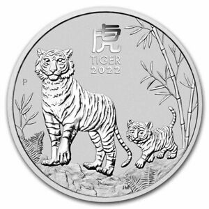 NEW - 2022 - 1/2 OZ .9999 SILVER - YEAR of the TIGER - PERTH  MINT - GEM - $9.99