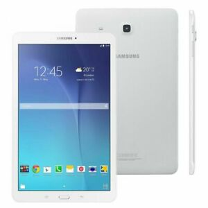 """Samsung Galaxy Tab E SM-T561 8GB 9.6"""" WiFi + Cell Unlocked Android Tablet White"""
