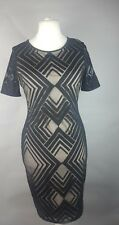 M&S Collection Black  Lace Shift Dress Ladies Size UK 12 Occasion Work