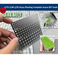 1/72 1/48 1/35 Grass Planting Template Model Scene DIY Tools