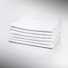 12 PREMIUM PILLOW CASES NEW WHITE STANDARD T180 PARCALE HOTEL LINEN BEDDING SALE