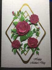 HANDMADE DECOUPAGE MOTHERS DAY/MOTHERING SUNDAY/MUM CARD TRELLIS ROSE