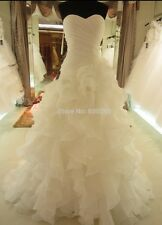 Bridal Gown Sweetheart Ruffles Organza Wedding Dress