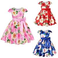 Girl party baby tutu formal princess dress kid bridesmaid dresses flower wedding