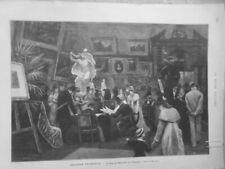 1878 Mid Ausstellung Universelle Wohnzimmer Schöne Arts Deutscher Dunkelbraun