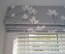Roman Blind Made With Laura Ashley Magnolia Grove Slate Grey Fabric