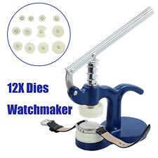 12 Dies Watch Back Case Press Closer Glass Fitting Tool Presser Repair Crystal