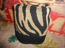 RALPH LAUREN SAFARI BROWN TAN STRIPE ZEBRA ANIMAL HAND TOWEL 14 X 27