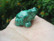 "1.9"" Natural Green MALACHITE Carving FROG from CONGO, AFRICA"