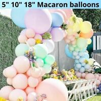 "10-50 Pastel Latex Balloons Macaron Candy Many Colour Party 10"" Balloons UK"