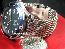 Correa De Reloj De Malla De Tiburón De Acero Pulsera Reloj de 18 mm Omega Speedmaster Seamaster para