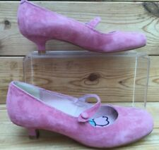 Ladies Clarks Purple Suede Mary Jane Court Shoes UK 3 Kitten Heel