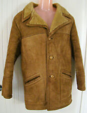 Vintage Sheepskin 3/4 coat - English - Light brown - lined - Size M