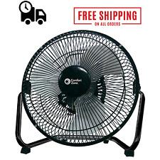 Industrial Grade Floor Fan High Velocity 3 Speed Heavy Duty Black 180Degree Tilt