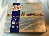 Vintage James Salt Water Taffy Candy Box Boardwalk Atlantic City 2 lb box