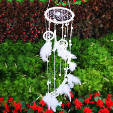 Bead Decor Indian With White Feathers Kid Large Dream Catcher Room Handmade Gift