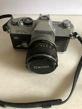 Vintage Canon FTb QL 35mm Film SLR Camera with Cannon Lens And Strap