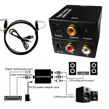 Analog Audio Converter Adapter RCA L/R SPDIF Optical Coaxial Toslink Digital