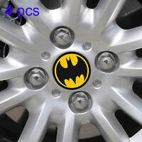 4pcs 60mm Batman Logo Car Wheel Center Hub Cap Emblem Badge Stickers Universal
