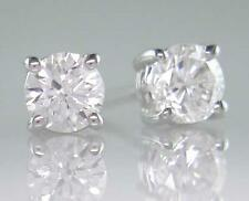 Diamond Solitaire Studs: Certified D IF 0.40ct Round Brilliant, 18ct White Gold