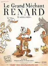 LE GRAND MECHANT RENARD Affiche Cinéma Pliée Movie Poster Benjamin Renner
