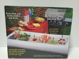 Greenco Inflatable Buffet and Salad Serving Bar - White