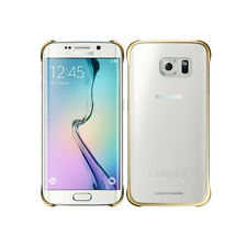 Genuine Original Samsung Galaxy S6 Edge Protective Clear Back Cover Case Gold