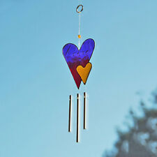 Colourful Love Heart Wind Chime Mobile Sun Catcher Fairly Traded From Bali