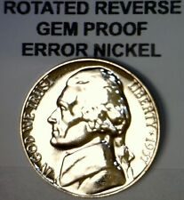 1957 ERROR ROTATED REVERSE Jefferson Nickel GEM PROOF Coin LOT #20  NR