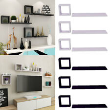 Set Of 6 Floating Wall Mounted Shelves Display Storage Shelf Home Decoration New