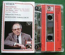 Weber Ouverturen Philharmonia Orch Wolfgang Sawallisch Cassette Tape - TESTED