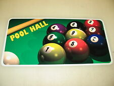 9 BALL POOL HALL Sign Metel vintage Table billiard Ball cue rack