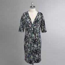 Sears Covington short sleeve Jersey empire twisted knot DRESS womens sz S NEW