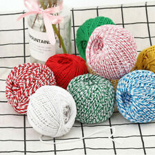 100m Cotton Baker's Twine Rope String Cord Gifts Wrapping Packaging Rope DIY