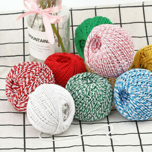 100m Bakers Christmas Cotton Cord Bundle Wrapping Craft Twine Gifts String