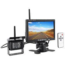 "Wireless IR Car Rear View Backup Camera + 7"" Monitor for Rv Truck Trailer 12-24V"