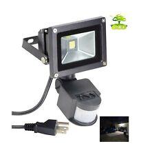 Led Motion Sensor Flood Light Outdoor 10W 800LM Pir Sensitive Security Lights...