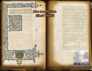 De medicina libri 8 Created 1465 AD Illumination Manuscript by Aulus Cornelius