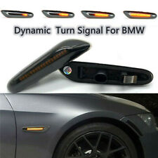 LED Dynamic Side Markers Turn Signal Lights For BMW E46 E90 E91 E92 E60 E87 E82