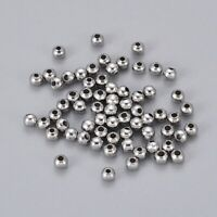 100 pcs Round 304 Stainless Steel Spacer Beads Crafts For Jewelry Making 3x3mm