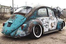 "Rat Rod 15"" White wall Portawall Tire insert Trim set 4 Pcs VW Beetle Bug pre"