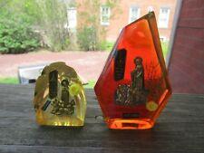 antique virgin mary em fatima rezei por ti  effigy shrine retro vintage rare