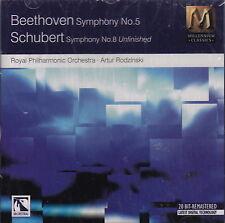 Beethoven: Symphony No. 5/Schubert: Symphony No. 8 (CD, 1996 MCA) RPO/Sealed!