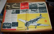 JAK-18T LIGHT AIRCRAFT CUTAWAY DRAWING  FROM POLISH COMIC ?1957 RUSSIAN AIRCRAFT