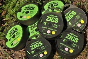 Korda Ready Zigs / Ready Tied Zig Rigs - All Lengths & Types 3 rigs per pack