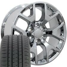 W1X Fits 20x9 Chrome Honeycomb Rims For Silverado Sierra Wheel & Tire 5656