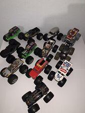 Hot Wheels Monster Jam Trucks Lot Of 12 Diecast Metal