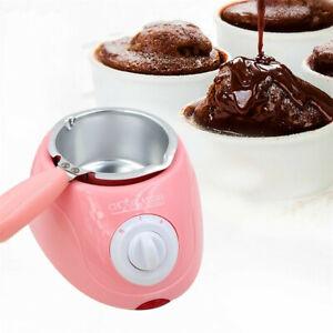 Pink Yellow Chocolate Melting Pot Electric Fondue Melter Machine Set Diy Kitchen
